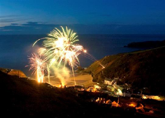 Llangrannog Fireworks 2014